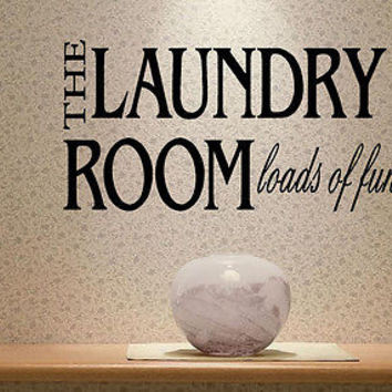 The Laundry Room quote wall sticker quote decal wall art decor 6148