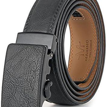 Marino Men¡¯s Genuine Leather Ratchet Dress Belt with Automatic Buckle, Enclosed in an Elegant Gift Box-1