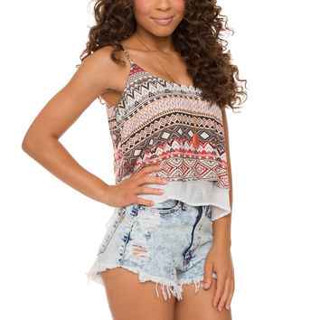Crew Love Aztec Crop Top