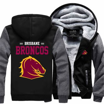 [50% OFF!!] EXCLUSIVE BRISBANE BRONCOS HOODIE JACKET - FREE SHIPPING