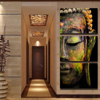 Buddha Painting Wall Art Paintings Picture Paiting Canvas Paints Home Decor Printed Painting Wall Art Picture Unframed 3 Pieces
