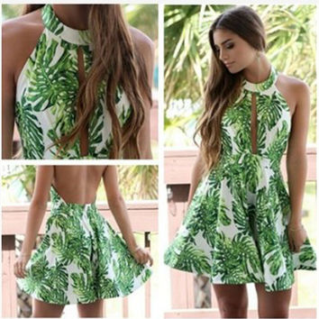 Summer Print One Piece Dress [10389933069]