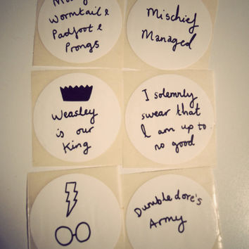 Harry Potter stickers hand drawn by Mr Teacup  nerdy by MrTeacup