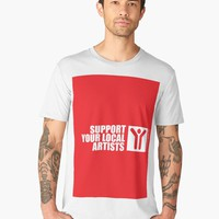 'Support Your Local Artists' Men's Premium T-Shirt by hypnotzd