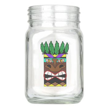 Totem Luau Party Mason Jar