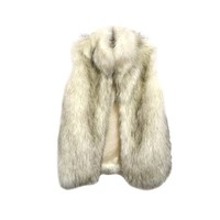 Womens Winter Warm Faux Fur Waistcoat Sleeveless Stand Collar Vest Coat