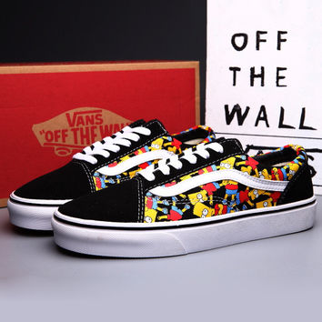 Trendsetter VANS X Peanuts Simpson Canvas Old Skool Flats Sneakers Sport Shoes
