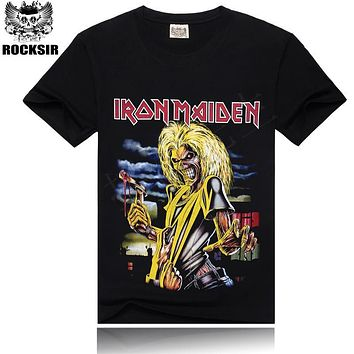 T-shirt Men Iron Maiden Brand 3D Style 2016 Heavy Metal Streetwear Men's Tshirt Cotton Casual Short Sleeves Top Tees t shirt