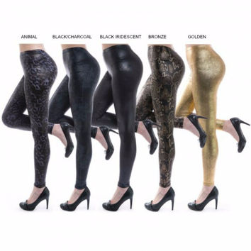 *Metallic Liquid Leggings- Assorted Color Options