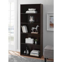 5-Shelf Wood Bookcase, Bookshelf for Dorm Room, Home Office, Living Room Kids Room Bedroom Furniture