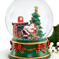 Holiday Lane Cookies for Santa Snow Globe