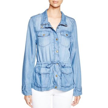 4Our Dreamers Womens Chambray Tencel Jacket