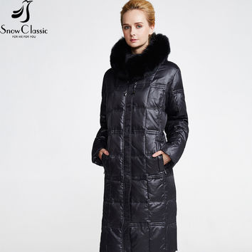 Snow Classic Women's Winter Jacket 2016 Plus Size 6xl Jackets Real Fox Fur Collar Winter Jacket The year-end clearance 12316