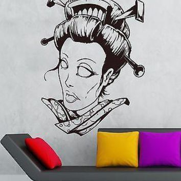 Wall Sticker Vinyl Decal Girl Zombie Gothic Fantasy Room Decor Unique Gift (ig1845)