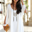 Bikini Luxe Wanderlust Summer Dress | White Dress | Beach Coverup