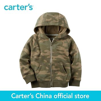 Carter's 1pcs baby children kids Camo Fleece Zip-Up Hoodie 243H001,sold by Carter's China official store