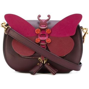 Anya Hindmarch Small Butterfly Shoulder Bag Farfetch