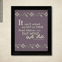 Jane Austen Quote Print with Sense and by HesedBooksAndGifts
