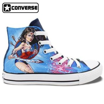 Wonder Woman Painted Converse