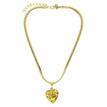 18K GLHeart Choker Necklace