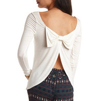 LONG SLEEVE BOW BACK TOP