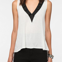 Urban Outfitters - Daydreamer LA Deep-V Neck Tux Tank Top
