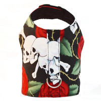 Skulls and Hearts Dog Vest Harness