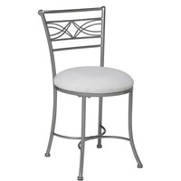 Hillsdale Furniture Dutton Vanity Stool, Chrome - Walmart.com