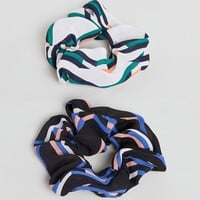 ASOS Pack of 2 Printed Scrunchies at asos.com