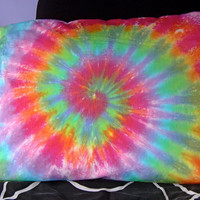 Tie Dye Pillowcase/ Rainbow Spiral