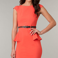 Knee Length Modest Neckline Dress by XOXO