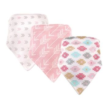 Geometric Bandanna Bib - Set of Three