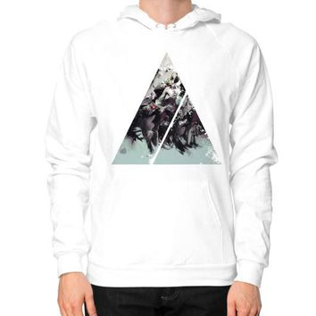 Geometric Conversation Hoodie (on man)