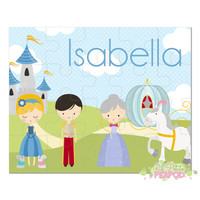 "Cinderella Puzzle - Kids Puzzle - Personalized 8"" x 10"" Puzzle - 20 or 100 pieces - Cinderella Design - Personalized Name Puzzle"