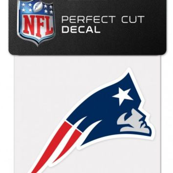 New England Patriots 4X4 Perfect Cut Decal By Wincraft