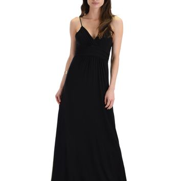 Lyss Loo Wanderlust Sweetheart Black Shift Maxi Dress