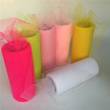 Tulle Roll (22m/roll)15cm Crystal Tulle Organza Roll Spool Tutu Soft Wedding Christmas Birthday Party Kids Favors Baby Shower