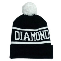 Diamond Supply Co Black & White Pom Beanie