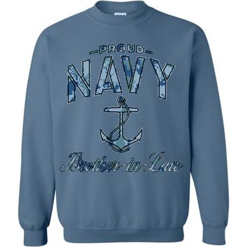 Proud Navy Brother-in-Law Sweatshirt (Camo)
