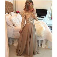 2015 Fashion Women Elegant Formal Floor-length Dress = 1931607300