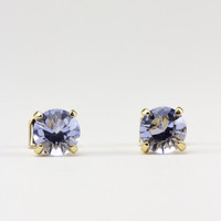 Large Lavender Swarovski Crystal Stud Earrings