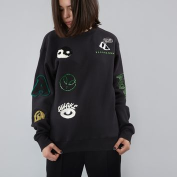 Aries Logo Embroidered Sweater - Black