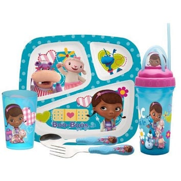 Zak Designs 5-Piece Doc McStuffins Mealtime Serveware Set