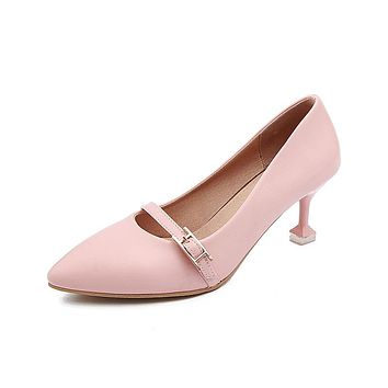 Pointed Toe High Heel Pumps Jelly Shoes Woman 3444
