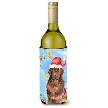 Christmas Lights Newfoundland Wine Bottle Beverage Insulator Hugger CK2487LITERK