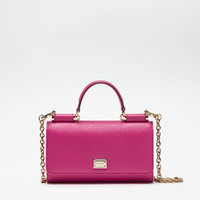 Leather Accessories for women | Dolce&Gabbana - MIN VON BAG IN DAUPHINE LEATHER