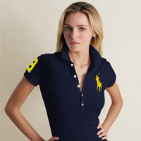 WOMEN'S POLO SHORT T-SHIRTS FREE SHIPPING SIZE M-XL