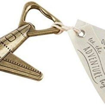 Kate Aspen Let the Adventure Begin Airplane Bottle Opener Wedding Decoration Party Favor Bronze