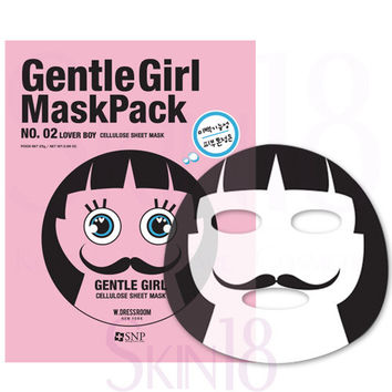 SNP Gentle Girl Cellulose Mask Pack (No.2 LOVER BOY)