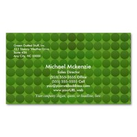 Green Dots Pattern Business Cards